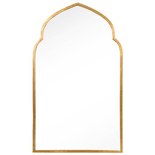 Royan Global Bazaar Antique Gold Leaf Moroccan Arch Mirror
