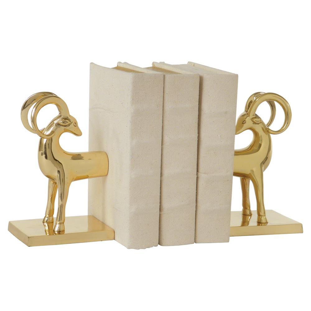 Modern Regency Gold Gazelle Bookends
