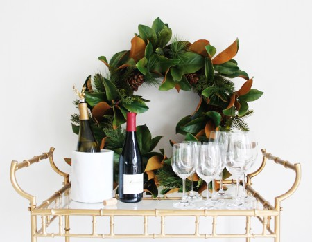 4 Festive Ways to Style Your Bar Cart for the Holidays | Kathy Kuo Home