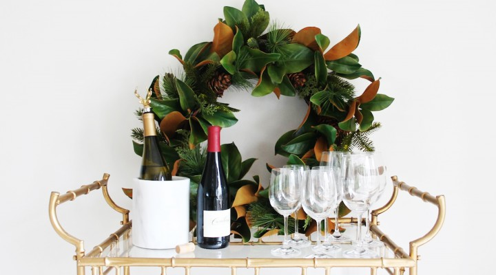 4 Festive Ways to Style Your Bar Cart for the Holidays