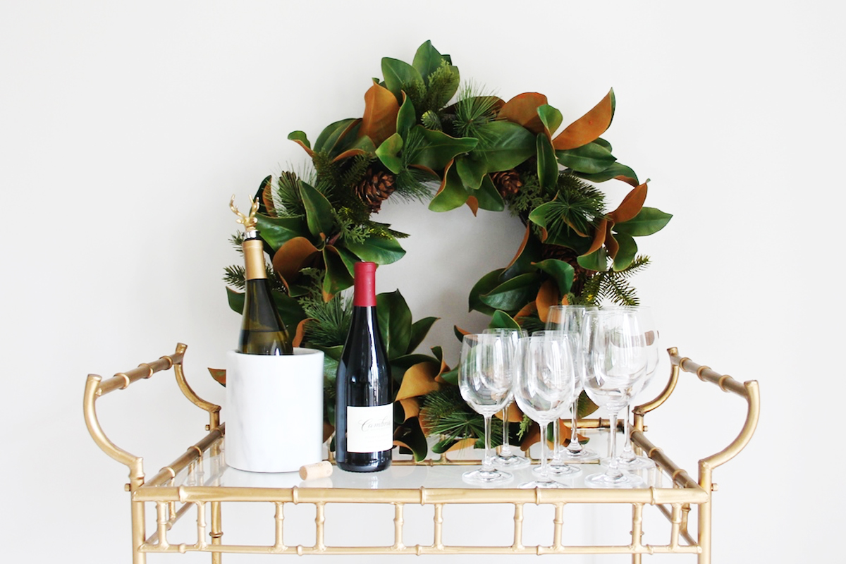 4 Festive Ways To Style Your Bar Cart For The Holidays Kathy Kuo Blog Kathy Kuo Home