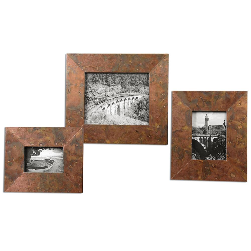 Canyon Industrial Loft Marbled Copper Photo Frames