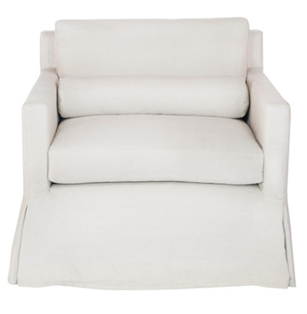 Louis Modern Classic Coastal Elegant Slip Cover White Chair