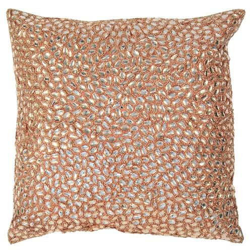 Marion Light Pink Jeweled Hand Beaded Pillow