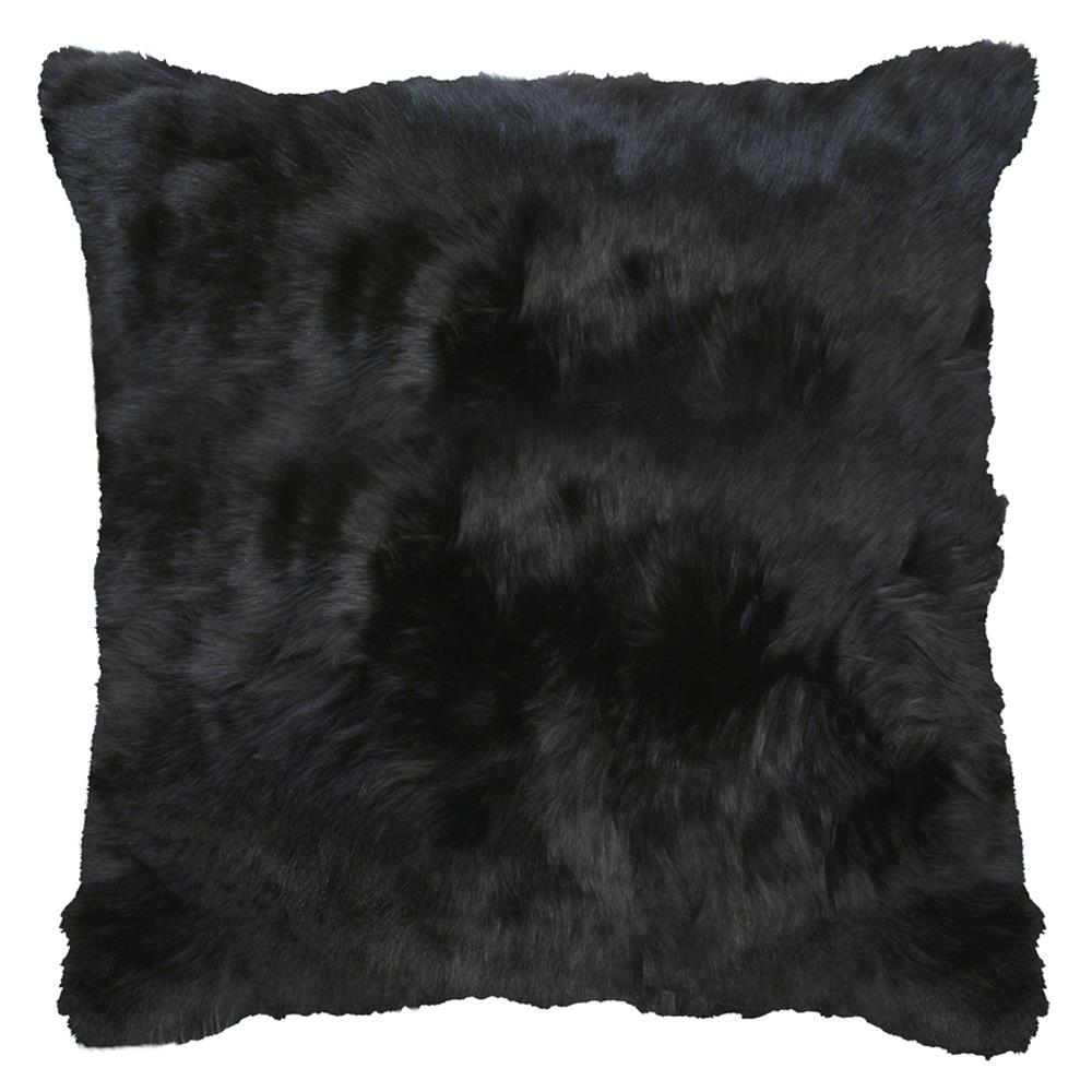 Roberta Black Peruvian Alpaca Fur Pillow
