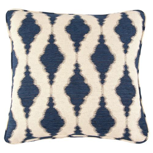 Salma Bazaar Embroidered Indigo Navy Pillow