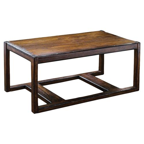Danny Rustic Lodge Honey Mahogany Coffee Table