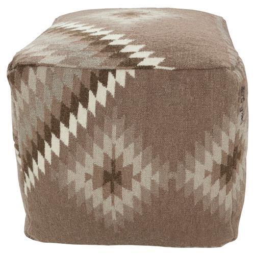 Nava Bazaar Brown Kilim Cube Pouf