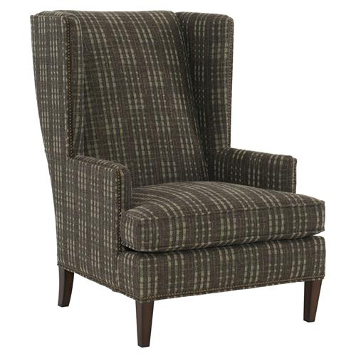 Rufus Rustic Lodge Plaid Brown Armchair