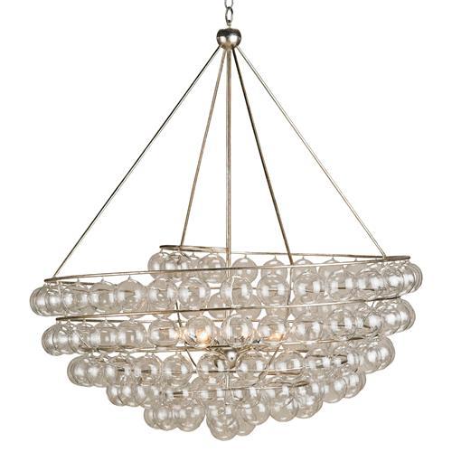 Modern Glass Bauble Round 4 Light Chandelier