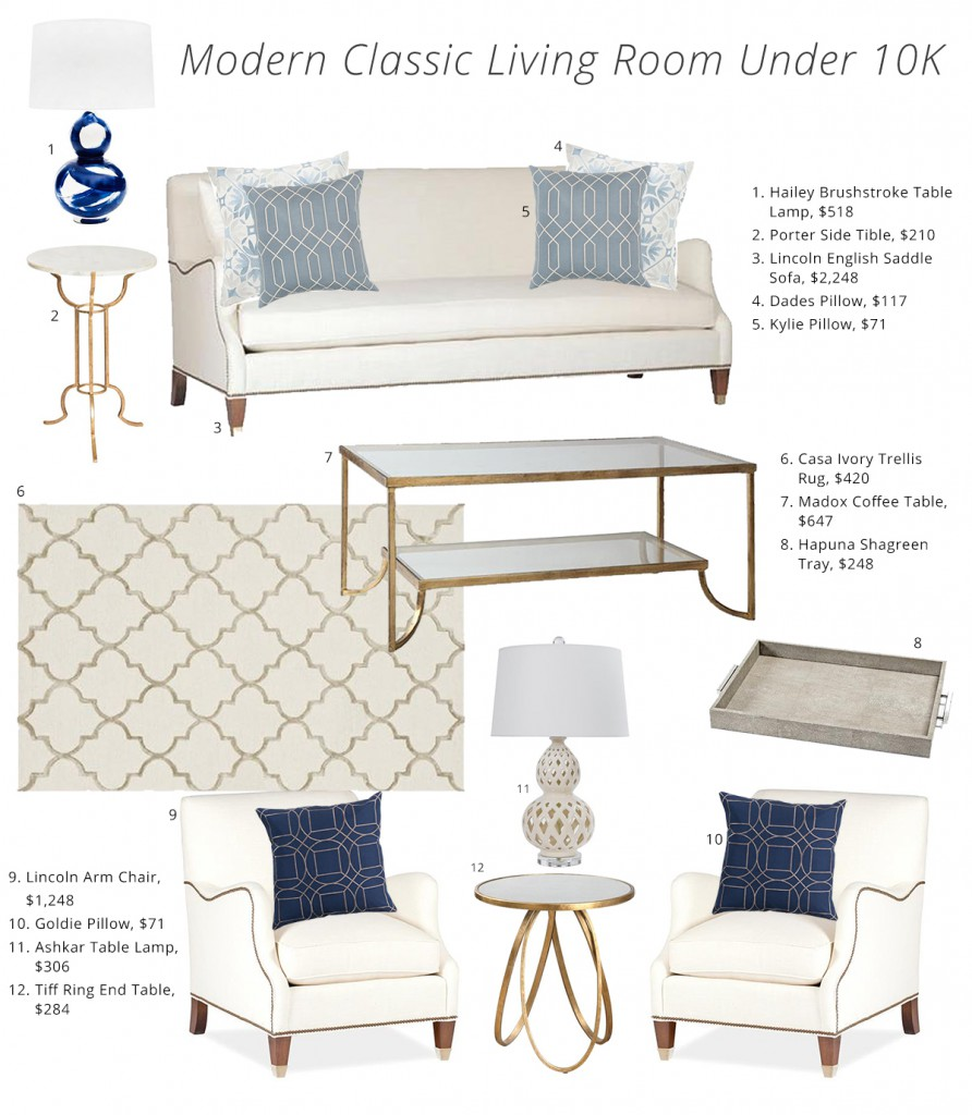 How To Get A Luxe Living Room For Under 10k Kathy Kuo Blog