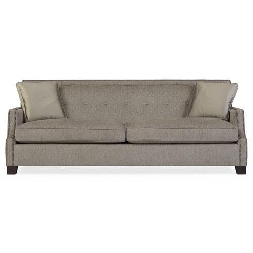 Bexley Modern Classic Mocha Wood Taupe Sofa