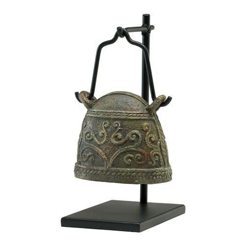 Antique Reproduction Global Bazaar Livestock Cowbell Sculpture