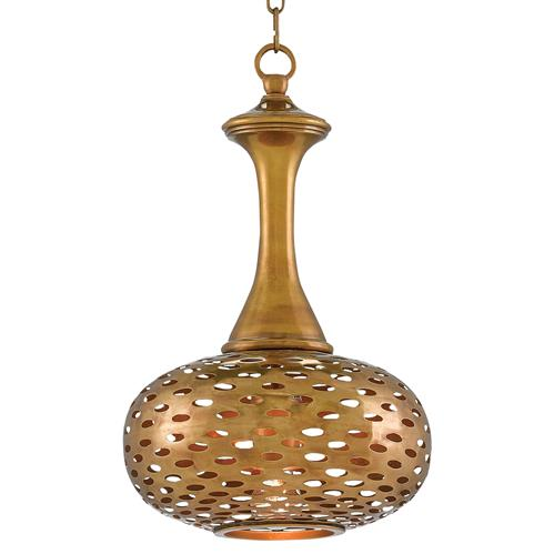 Salman Global Bazaar Pierced Antique Brass Pendant