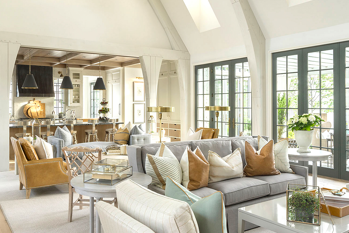 6 Design Tips for an Open Floor Plan | Kathy Kuo Blog | Kathy Kuo Home