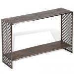 Ajax Industrial Loft Grey Wood Console Table