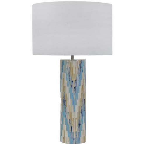 Aurora Global Bazaar Chevron Mosaic Indigo Table Lamp