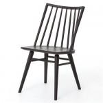 Lara Modern Classic Black Oak Simple Dining Chair