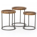 Loup Rustic Loft Reclaimed Iron Nesting Table