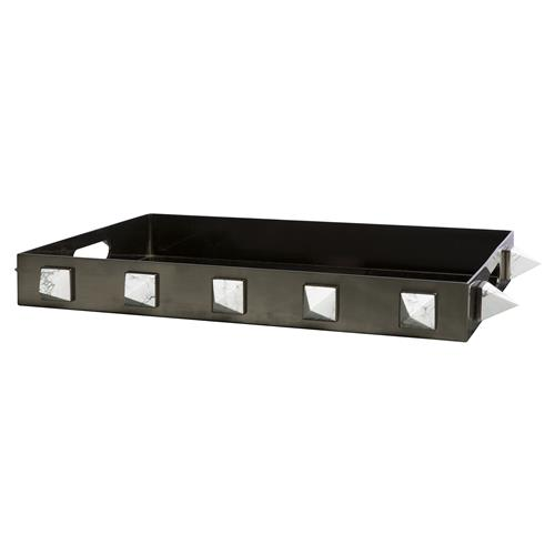 Skylar Modern Classic Howlite Studded Decorative Tray