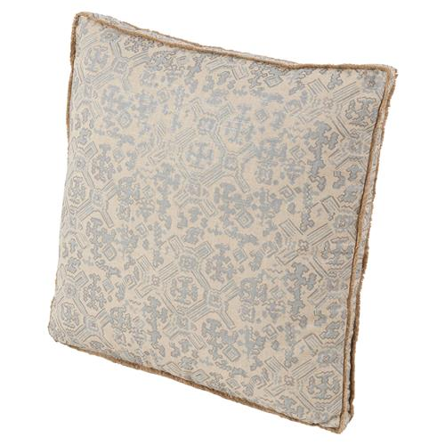 Noma Bazaar Silver Beige Tribal Print Eyelash Pillow