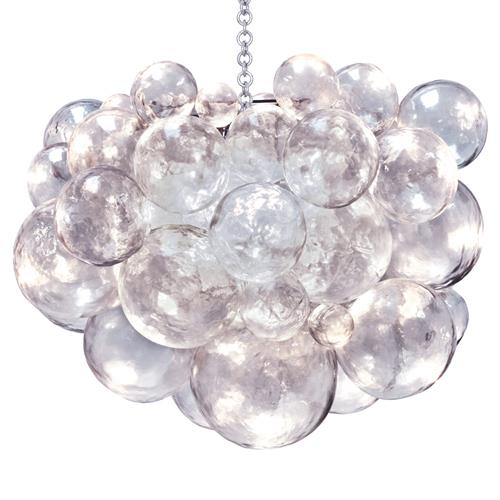 Muriel Clear Bubbled Silver Oly Chandelier