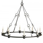 Old Iron Rustic Spanish Revival 8 Light Chandelier