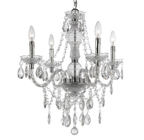 Zoe Global Bazaar Clear 4 Light Mini Chandelier