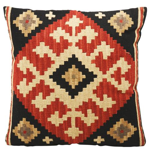 Ataylana Black Red Kilim Pillow