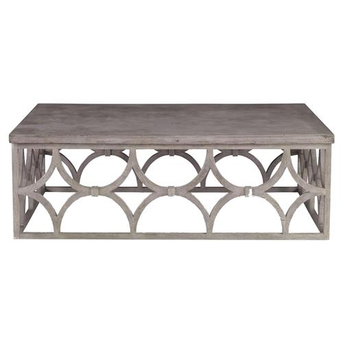 Mara Modern Slate Oak Rectangle Outdoor Coffee Table