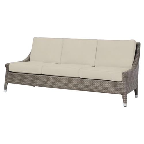 Signe Coastal Modern Faux Rattan Salt Outdoor Sofa