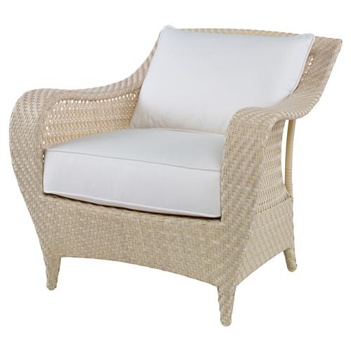 Bismark Ivory Woven Sand Outdoor Lounge Chair