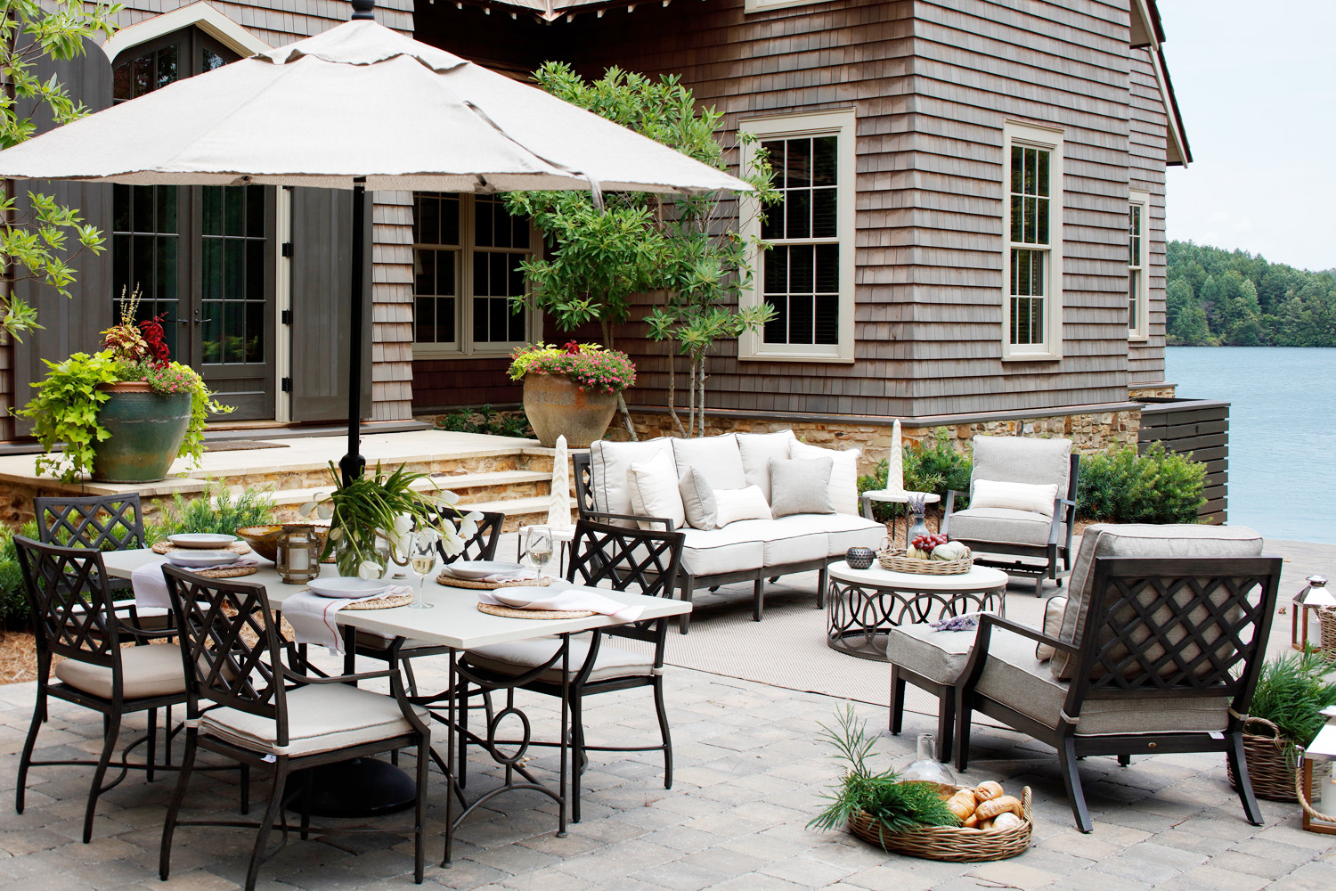 french country industrial loft urban eclectic furniture these 5 materials are magic for the outdoors kathy kuo home