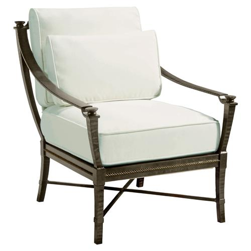 Jane Modern French Metal White Outdoor Arm Chair