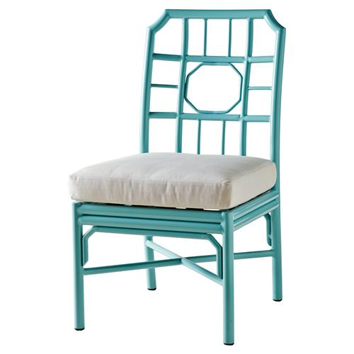 Rama Global Bazaar Regeant Outdoor Side Chair - Sky Blue