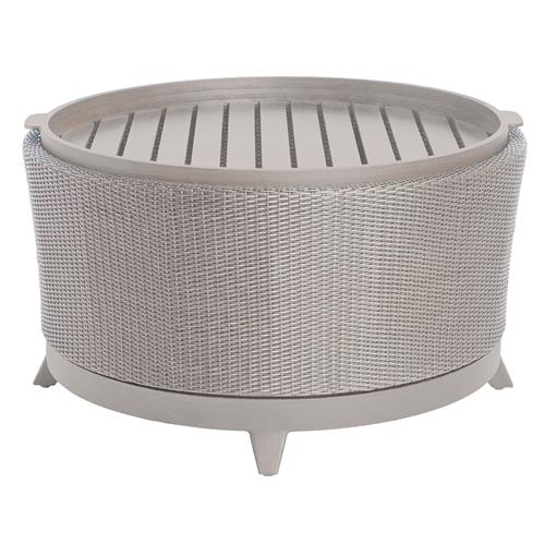 Halo Tray Grey Oyster Wicker Outdoor Coffee Table