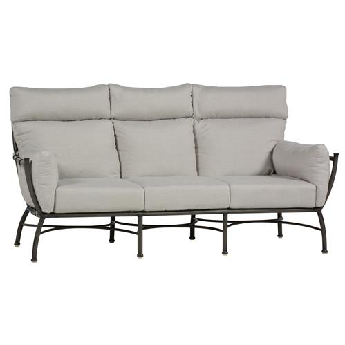 Majorca Dove Grey Overstuffed Slate Outdoor Sofa