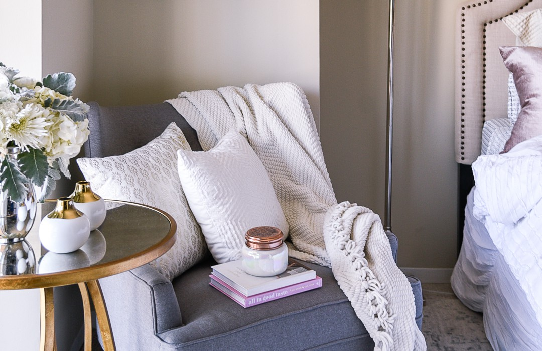 "Jenna Colgrove of ""Visions of Vogue"" Shares How to Style a Cozy Corner"