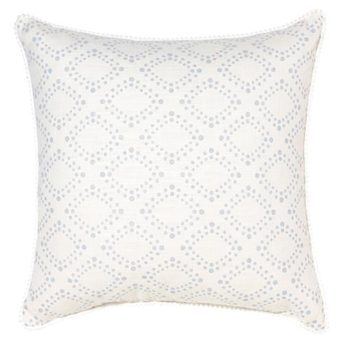 Spiva Modern Classic Dotted Grey Ivory Pillow