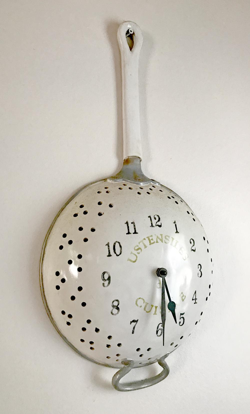 Colander Clock