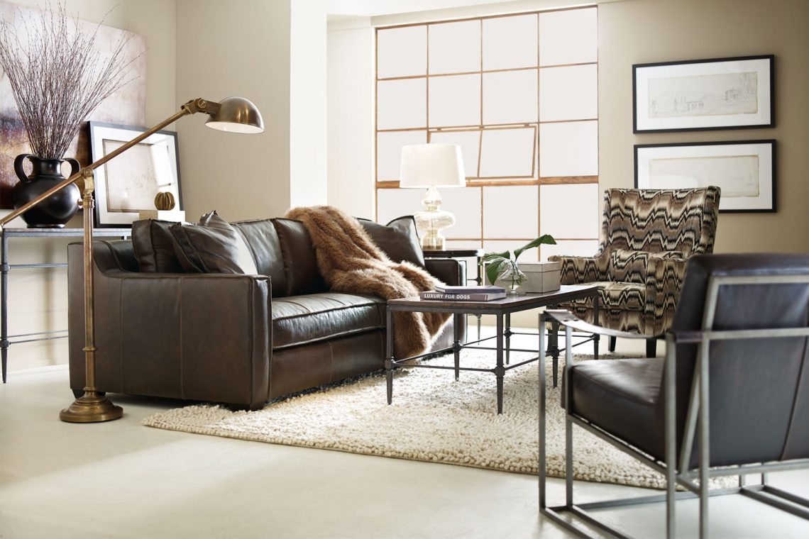 Chic Leather Furniture the Whole Family Can Agree On