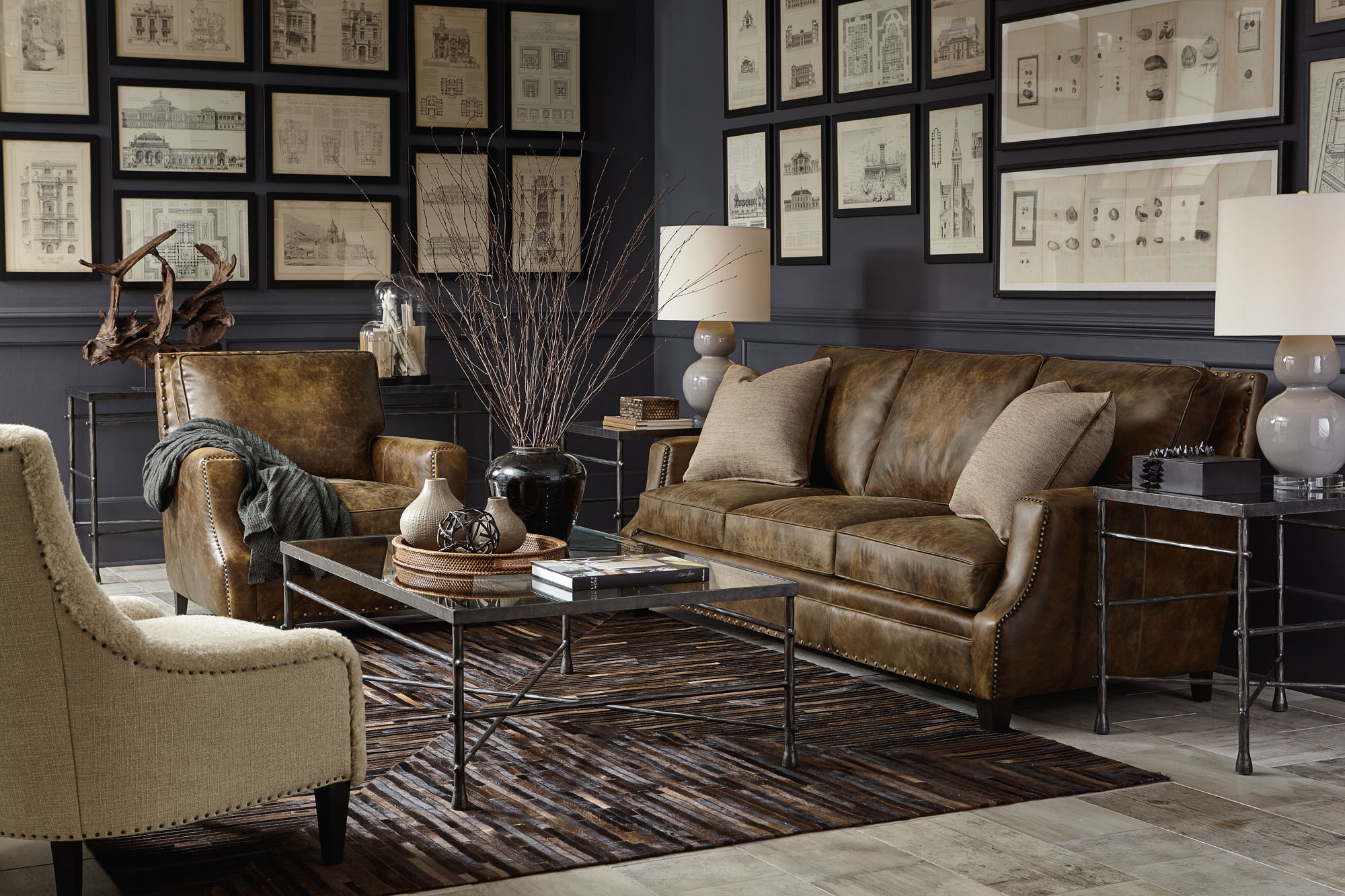 Leather Furniture You BOTH Can Agree Kathy Kuo Blog