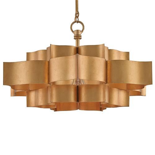 Jalbala Global Bazaar Antique Gold Lotus Ceiling Pendant