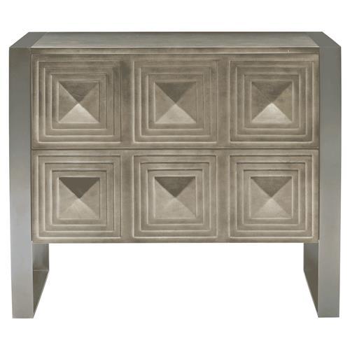 Gwyneth Hollywood Regency Maple Bronze 2 Drawer Nightstand