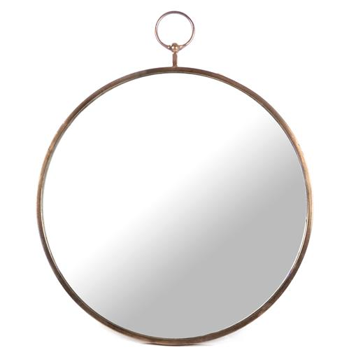 Nottingham Hollywood Regency Large Thin Round Wall Mirror