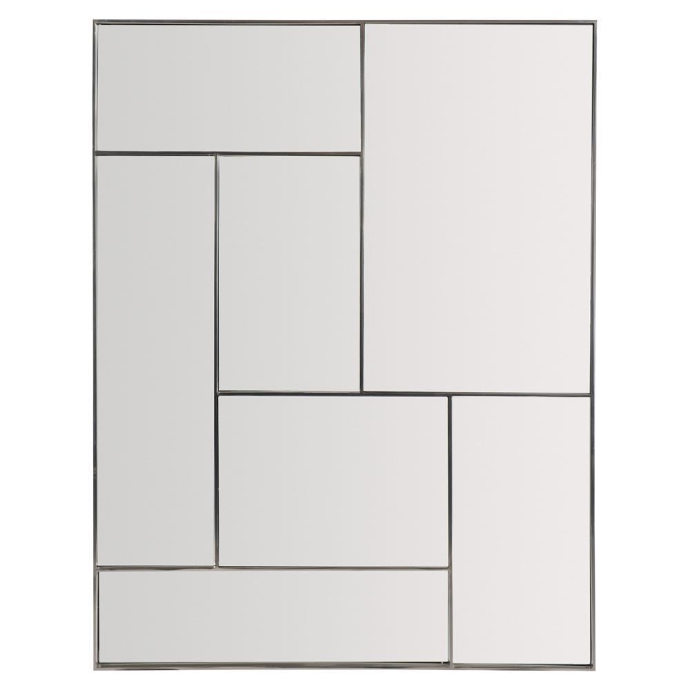 Gwyneth Modern Classic Stainless Steel Paneled Rectangular Mirror