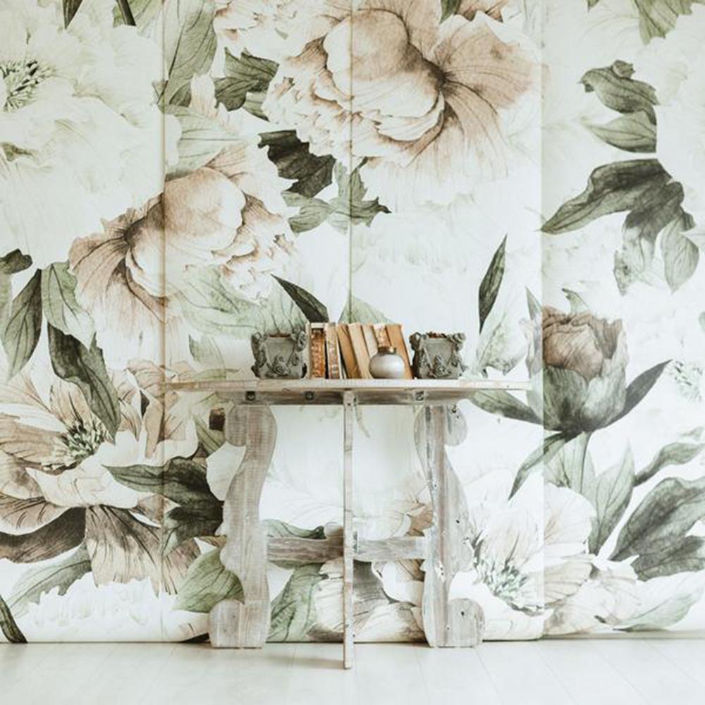 light floral wallpaper