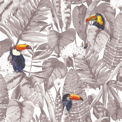 Green Toucan Jungle Global Bazaar Removable Wallpaper