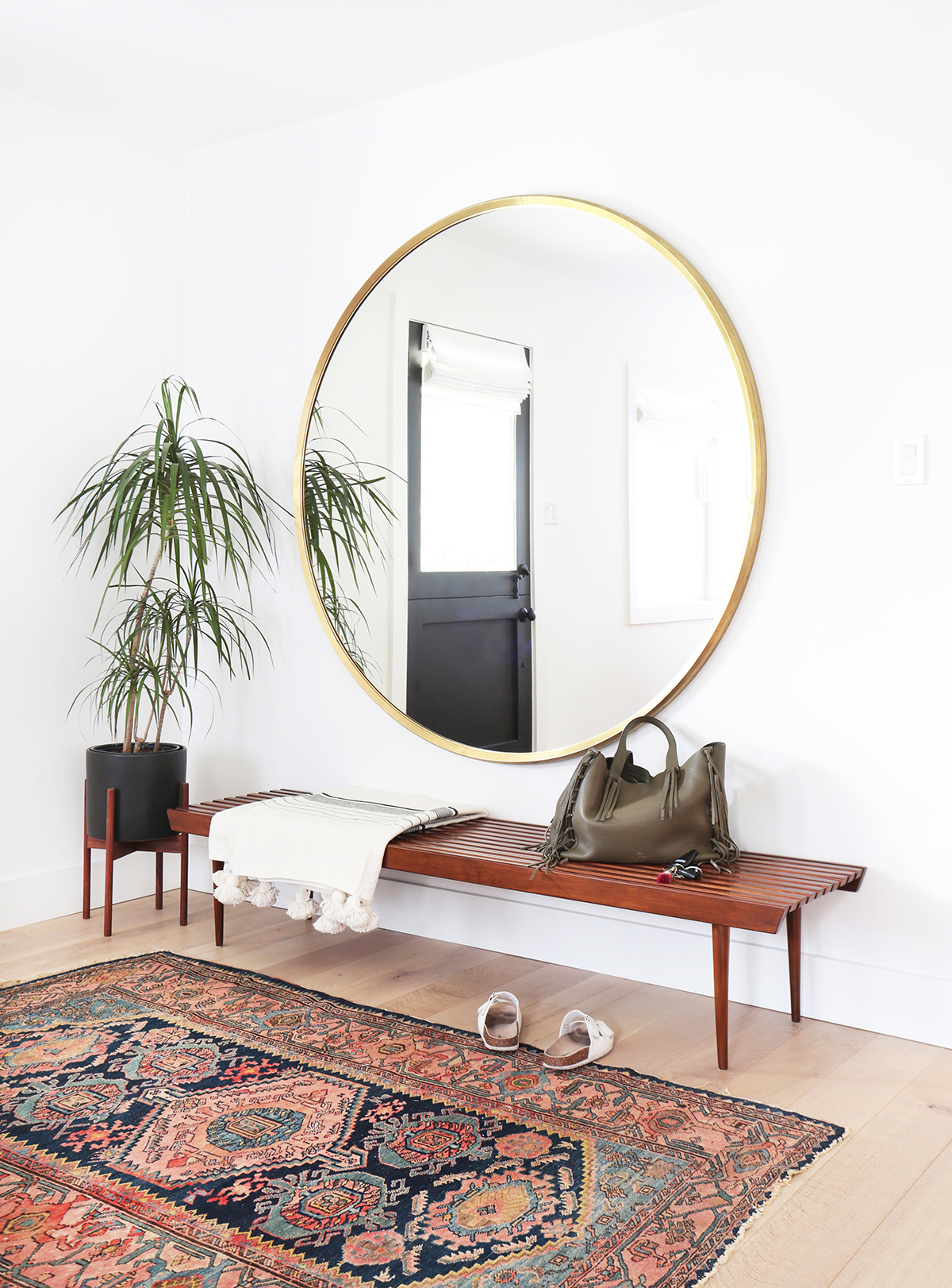 Use Round Mirrors To Complete Any Room in Your Home | Kathy Kuo Blog ...