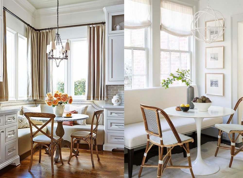 dining room designs with bistro tables